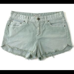 Free People Distressed Cut Off Jean Shorts